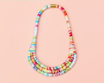 Colorful Statement Necklace For Women, Summer Jewelry