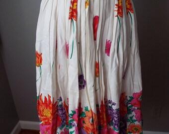 Vintage Floral Print Skirt by Evan Picone Petites