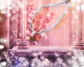 Collana Cuore di Ematite-Heart Necklace of Hematite
