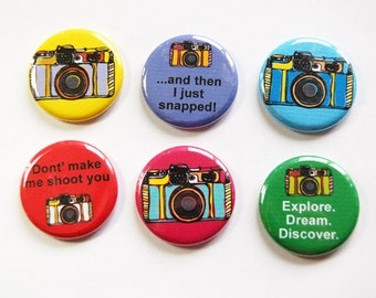 Photography Magnets, Camera Magnets, Button magnets, Kitchen Magnets, Fridge Magnet, funny magnet, gift for photographer, photography (3251)