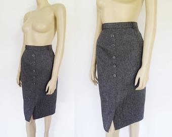Vintage Pencil Skirt, UK14, Gray, Grey Skirt, Secretary Skirt, Pinup Skirt, Vintage Clothing, Ladies Skirt, Tight Skirt, Pencil Skirt