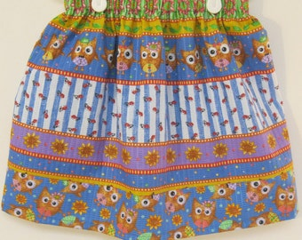 Owl Skirt made With Tutti Frutti Poly/Cotton blend