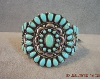 ZUNI PETIT POINT Cuff Bracelet Excellent Condition