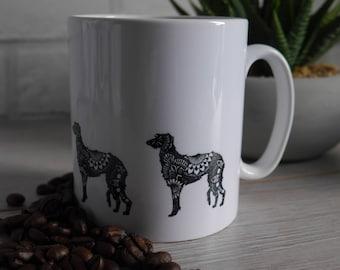 Deerhound, Deerhound Mug, Mug, Dog Mug, Gifts for Deerhound Lovers, Deerhound Gifts, Dog Lovers, Gifts For Dog Lovers, Dog Gifts, Dog Mug,