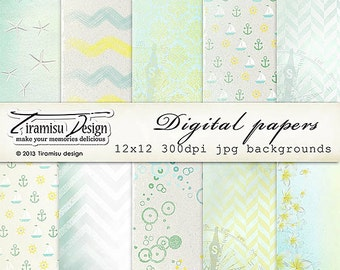 Scrapbook Papers and Digital Paper Pack 21