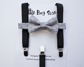 Boys Bow Tie and Suspenders, Boys Bow Tie, Ring Bearer Outfit, Toddler Bow Tie, Men Boy Bow Tie, Boys First Birthday, Boys Cake Smash Outfit