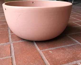 Vintage Light Pink Gainey Ceramic Hanging Planter