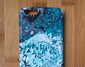 Hand painted, marble effect phone case - iPhone 6 / 7 / plus