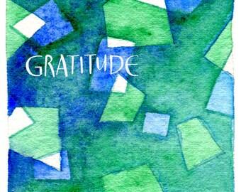 Gratitude Skylight Matted Fine Art Print
