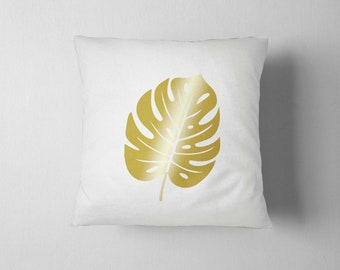 Tropical palm, Palm Pillow, Decorative Pillow 16x16, Home decor, Throw pillow, leaves sofa cushions, Plant Print,