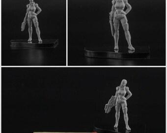 28mm FemShep resin figure Mass Effect