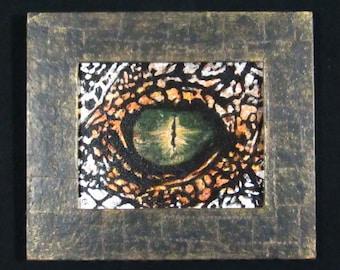 Eye 3- 10X8 Original Painting, Framed