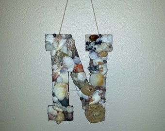 Beach Monogram, Seashell Monogram, Beach Wedding