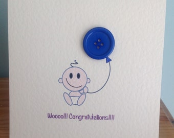 Baby boy card.....wooooo!!! Congratulations!!!