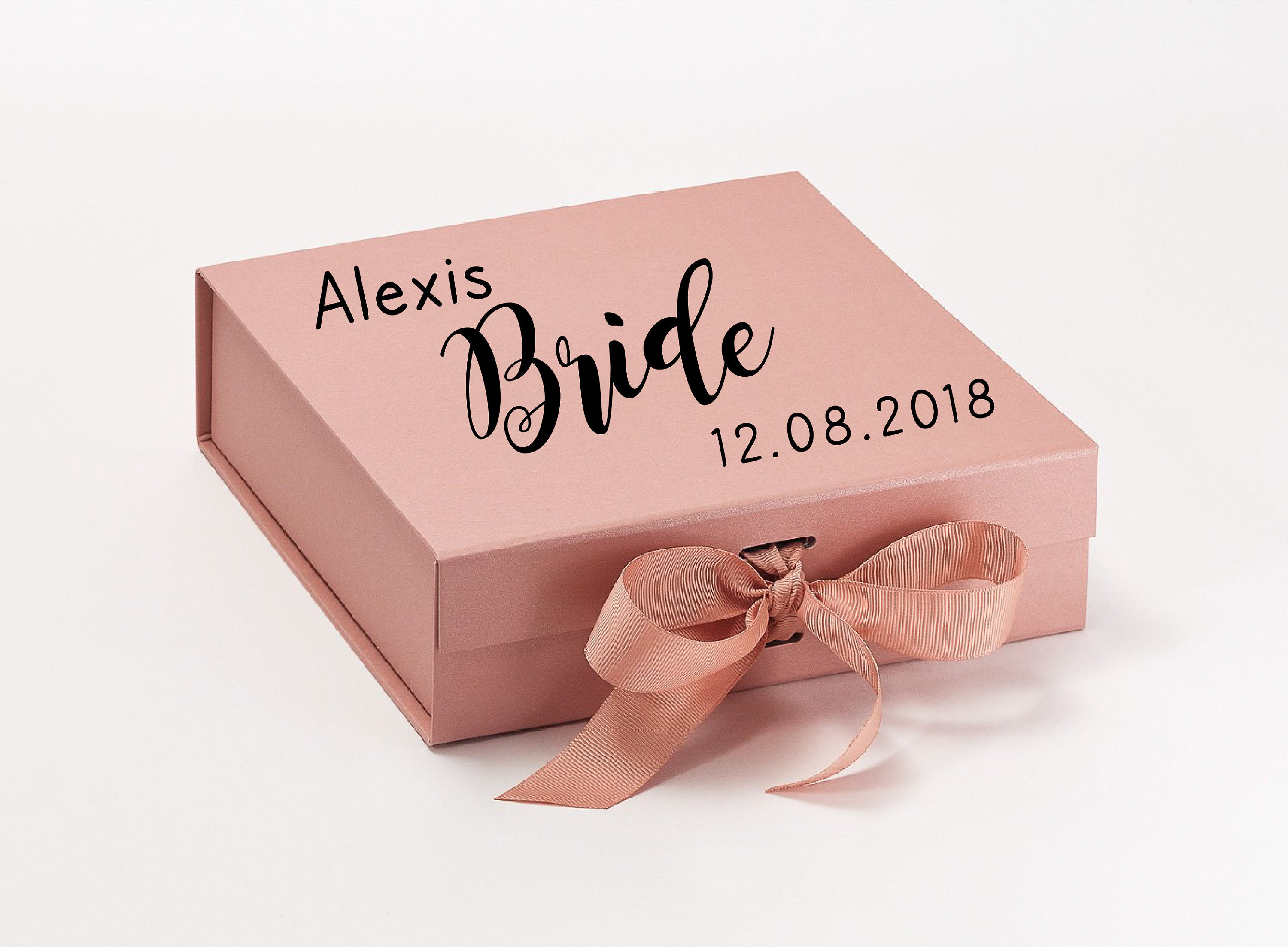 Bride Box You choose the wording Bridesmaid Gift Box Maid