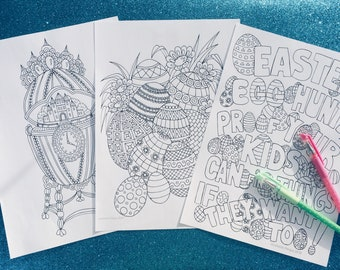 Easter Pack, coloring pages to download and print