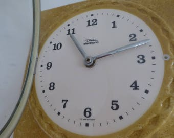 Kitchen Clock Ceramic Clock Wall Decor Germany Diehl  Vintage Wall clock Mid-Century  1960s 70s