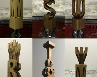 Custom Beer Tap Handle (Any 3 Letters)
