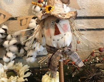 how to make a scarecrow head