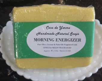 Refreshing Morning Energizer! Made with Olive, Palm and Coconut Oils and Skin Safe Fragrances. (Use Coupon Code CDY18)