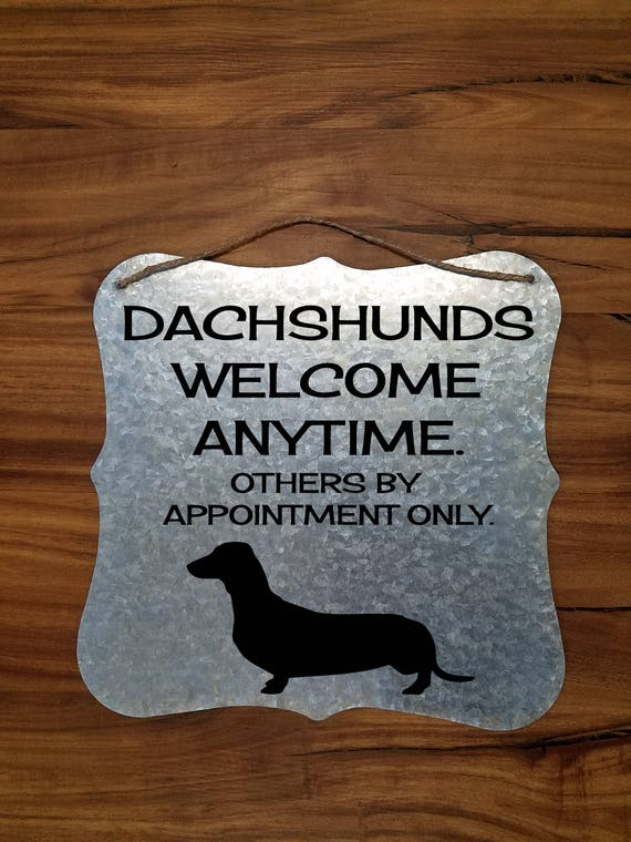 Dachshund Welcome Sign Dachshund Home Decor Dachshund Gift