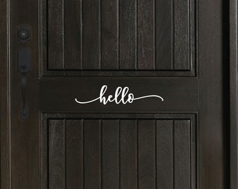 Hello or Welcome Front Door Decal - Closeout Sale!