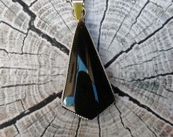 Obsidian Necklace arrow/girlfriends gift/gift under 20/Dije Obsidian/arrow Pendant