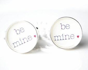Be Mine Red Heart Valentine Cufflinks - By White Truffle - Valentines Day Gifts