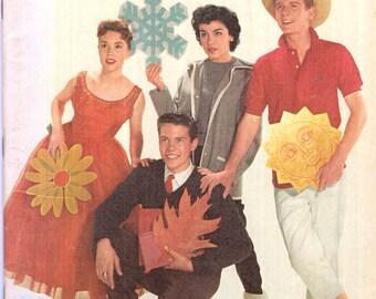 Walt Disney's Magazine Vol. 4 #1 Annette Darlene Bobby David Cover 1958