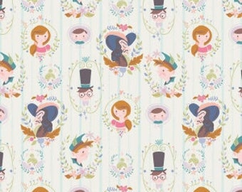Peter Pan's Darling Wall on Cream from Riley Blake's Neverland Collection