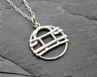 Gemini Libra zodiac necklace sterling silver