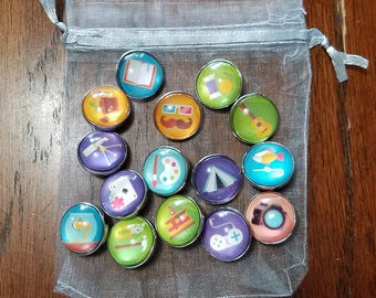 18mm Snap Button Charms - Hobbies
