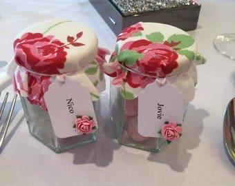 Favour jars with Bon bons.