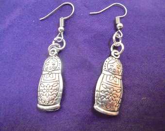 Matryoshka nesting doll earrings