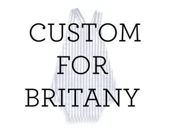 Custom Striped Romper for Britany