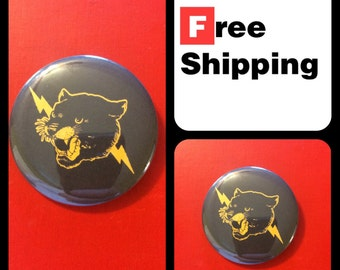 Cougar Lightning Button Pin, FREE SHIPPING & Coupon Codes