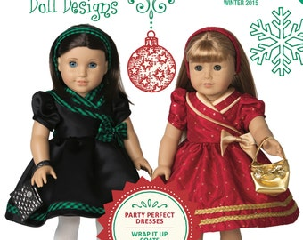 Too Cute Doll Designs WINTER 2015 - Sewing newsletter for 18 Inch dolls