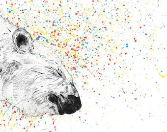 Polar Bear // Signed A3 print