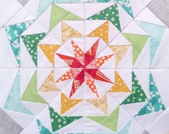 Paper Piecing Pattern - 80's Geese #250 - Quilt Pattern - 6 inch