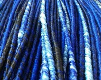 Silky de dreads mix colour. Blue dreadlocks. Classic de dreads
