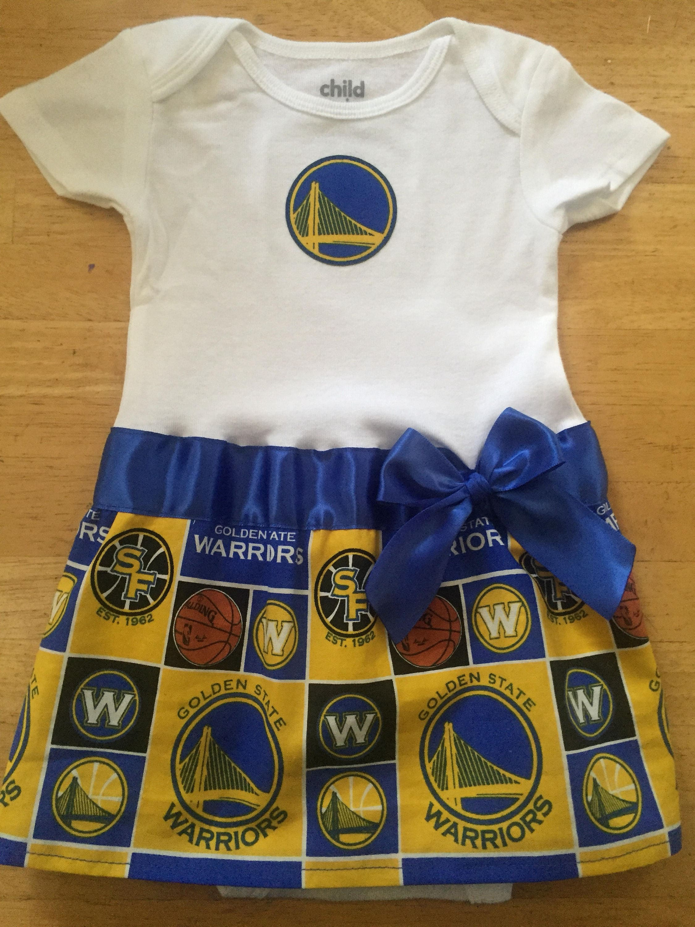 Golden State Warriors inspired baby girl outfit