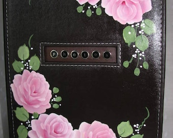 Photo Album Hand Painted Pink Roses