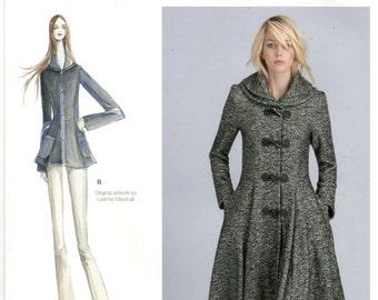 Simplicity D0550 / 8262 Size 14, 16, 18, 20, 22 Plus size lined princess seam jacket pattern.  Leanne Marshall peplum coat, shawl collar