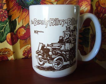 The Beverly Hillary-Billies Mug, Hillary Clinton Mug, 1995 Clinton Entertainment Coffee Mug