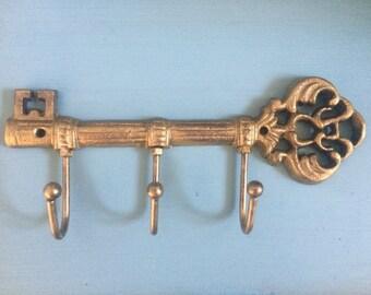 Key Holder for Wall, Key Organizer, Key Hooks, Rustic Key Holder, Key Rack, Rustic Wall Hooks, Rustic Home Decor