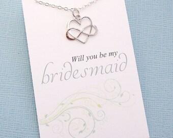 Bridesmaid Proposal   Bridesmaid Necklace, Be My Bridesmaid Gift, Maid of Honor Gift, Bridal Party Gifts, Bridesmaids Gifts    B05