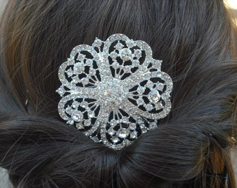Serenity Collection, Rhinestone Hair Comb, Victorian Art Deco Bridal Hair Comb, Vintage Style Hair Accessories, Wedding Hair Comb