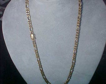 """18k Solid Gold Chain Necklace + 14k Gold clasp 48.9 Grams 24.5"""" Vintage 60s 40s"""