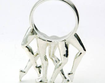 Leg Ring in Sterling Silver