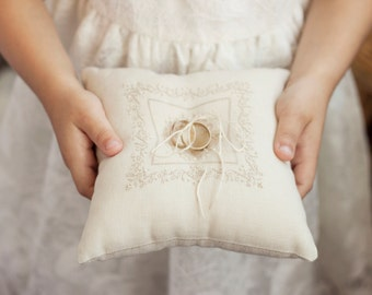 Wedding Ring Pillow, ring bearer pillow, wedding pillow, wedding ring pillow, ring bearer, ivory ring pillow, rustic wedding, ring cushion